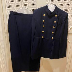 Ralph Lauren navy detailed suit